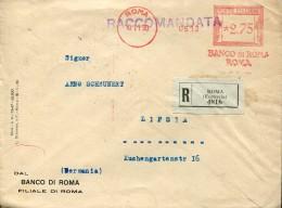 16011 Italia,red Meter/freistempel/ema/affrancatrice Rossa/roma 1930 Banco Di Roma, - Affrancature Meccaniche Rosse (EMA)