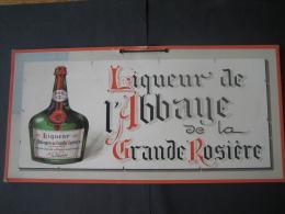 Ancien Carton Publicitaire (1925) Original - Liqueur De L'Abbaye De La GRANDE ROSIERE - Paperboard Signs