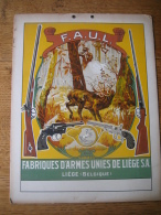"""Superbe Carton Publicitaire Original 1946 FABRIQUES D'ARMES UNIE DE LIEGE - Marque """"LE CENTAURE"""" - Placas De Cartón"""