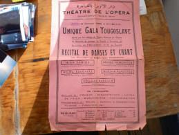 Posters Theatre De L Opera  Unique Gala Yougoslave  Egypte   Viite President Tito - Manifesti