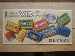 Ancien Carton Publicitaire Produits V.D.C. DEINZE -  Tabac, Tabak - Lithographie J. DE GREVE & C°, BRUXELLES - Plaques En Carton
