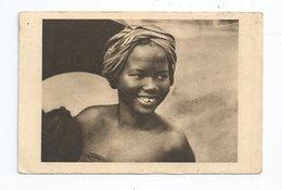 CPA  AEF Afrique Equatoriale Française OUBANGUI Sourire D'ingénue 1931 Pour Glos Calvados 14 - Cartes Postales
