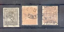 NORWAY NORGE NORVEGE NORUEGA YVERT OBLITERES NRS. 10,11 ET 12 - ANS 1863-1867 - Norway