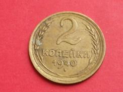 Russie URSS 2 Kopecks  1940 KM# Y 106 Alu Bronze TTB - Russie