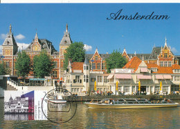 D27538 CARTE MAXIMUM CARD FD 2011 NETHERLANDS - NZH KOFFIEHUIS AMSTERDAM IN FRONT OF RAILWAY STATION CP ORIGINAL - Architecture