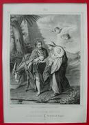 Grande IMAGE PIEUSE (30 Cm X 21 Cm) Llanta Litho / Bouasse-Lebel Pl 62 - LA FUITE EN EGYPTE HOLY CARD FLIGHT INTO EGYPT - Devotion Images