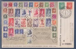 Exposition Philatélique Châtillon Sous Bagneux (Seine) 21.4.44 Livret De Prisonnier Timbres 511 Et 513 Enveloppe - 1921-1960: Modern Period