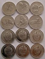 NORD NORTH KOREA COREA 2002 SERIE 6 MONETE DA 0,5 CHON ANIMALS FDC UNC - Corea Del Nord