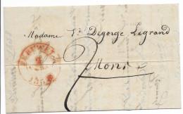 Lettre De  Peruwelz Pour Mons. 2 Mars 1838. - 1830-1849 (Belgique Indépendante)
