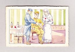 Motiv Künstlerkarte RX Militär Rotes Kreuz Ungebraucht Rückseite Stempel 21.4.1919 - Illustrators & Photographers