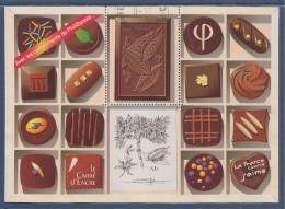 Bloc Chocolat Hors Commerce Avec Les Compliments De Phil@poste Sans Valeur Faciale Visuel Timbre 4366 Oblitéré - Blocs & Feuillets