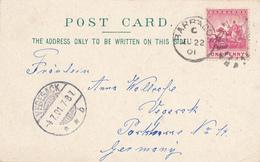 BARBADOS - 1901 , AK Nach Vegesack (Bremen) - Barbados (1966-...)