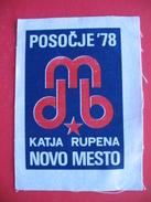 """Textile Patch:POSOCJE """"78 KATJA RUPENA NOVO MESTO - Patches"""