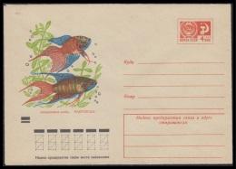 7787 RUSSIA 1971 ENTIER COVER Mint AQUARIUM FISH POISSON FISCH USSR 71-412 - Pesci