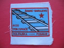 Textile Patch:SAMAC-SARAJEVO,MDB OTON ZUPANCIC DOLENJSKA-POSAVJE - Patches