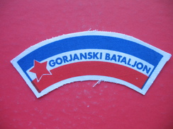 Textile Patch:GORJANSKI BATALJON - Scudetti In Tela