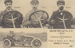CPA.GRAND PRIX DE L' A.C.F. 1907 CIRCUIT DE LA SEINE INFERIEURE. - Sport Automobile