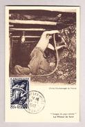 Frankreich Maximum Karte Auchy Les Mines 19.03.1949 Mineur De Fond - Cartes-Maximum