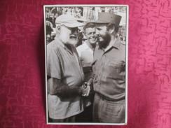 CUBA . FIDEL CASTRO Y ERNEST HEMINGWAY . LA HABANA 1959 - Cartes Postales