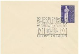 Pologne  Nobel Marie Sklodowska Curie Lublin 1971