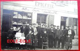 60 - Carte Photo - SAILLEVILLE - LAIGNEVILLE - Cafe - Tabac - Epicerie LOYER - Devanture - Rue Faidherbe - France