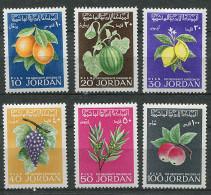 Jordanie * N° 590 à 595 - Oranges, Pastèques, Citrons, Raisins, Olives, Pommes - - Jordanië