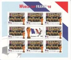 1998 Guyana  World Cup France  Team JAMAICA Miniature Sheet Of 8 Great Christmas Gift MNH - Coupe Du Monde