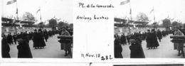 V0282 - PARIS  ARMISTICE 11.11.1918 - Place De La Concorde - Avions Boches - Original Rare à Saisir - Plaques De Verre