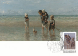 D27590 CARTE MAXIMUM CARD 2013 NETHERLANDS - CHILDREN OF THE SEA BY ISRAËLS - RIJKSMUSEUM AMSTERDAM CP ORIGINAL - Arts