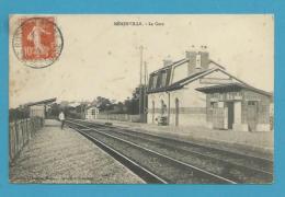 CPA - Chemin De Fer La Gare De MENERVILLE 78 - Autres Communes