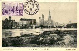 FRANCE - Carte Postale De Rouen Avec Oblitération Du Dernier Jour D 'émission En 1946  - A Voir - L 5593 - 1940-49