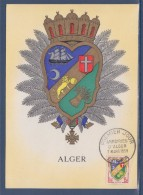 Carte Postale 1er Jour Armoiries D´Alger 7 Mars 1959 N°1195 - Algérie (1924-1962)