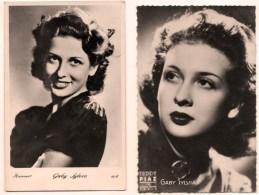 Gaby Sylvia Cinéma Cesana 1920 - Chamalières  1980 Actrice Italienne Réunion De 2 Cartes Photo - Timbres