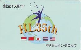 Télécarte Japon ESPACE (803)  GLOBE * SATELLITE * TERRESTRE * MAPPEMONDE * Telefonkarte Phonecard JAPAN * - Espacio