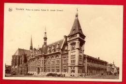 Verviers. Palais De Justice Et église Saint Joseph. Camions, Voitures. 1941 - Verviers