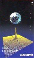 Télécarte Japon ESPACE (843)  GLOBE * SATELLITE * TERRESTRE * MAPPEMONDE * Telefonkarte Phonecard JAPAN * - Espacio