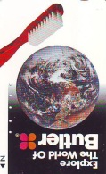 Télécarte Japon ESPACE (845)  GLOBE * SATELLITE * TERRESTRE * MAPPEMONDE * Telefonkarte Phonecard JAPAN * - Spazio