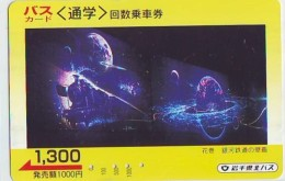 Télécarte Japon ESPACE (847)  GLOBE * SATELLITE * TERRESTRE * MAPPEMONDE * Telefonkarte Phonecard JAPAN * - Spazio