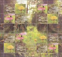 Bosnia Serbia 2016 Medicinal Mushrooms, Flora, Plants, Bear, Woodpecker, Roe Deer, Fauna, Sheet MNH - Hongos