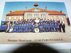 CARTE POSTALE BATTERIE FANFARE MUSIQUE MUNICIPALE PARGNY SUR SAULX 51 MARNE - Musique
