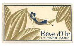 Carte Parfumée Rêve D'Or, L.T. Piver, Paris (adresse Au Verso : Salon Duarte, Maclas, Loire ) - Cartes Parfumées