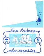 Petit Calendrier 1960, Dépliant, Les Laines Du Marin - Petit Format : 1961-70