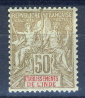 India 1900 - 07 N. 17 C. 17 Bistro Su Azzurro MLH Catalogo € 17,50 - India (1892-1954)