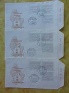 Luxemburg: ATM - Frama Automatenmarken 2505 - 2506 - 2507  Vom 22.5.1986 Wertstufen 6,10 + 12 - Frankeervignetten