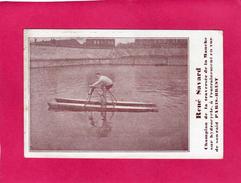 RENE SAVARD, Champion De La Traversée De La Manche Sur HYDROCYCLE, Animée - Cyclisme