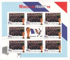 1998 Guyana  World Cup France  Team CHILE  Miniature Sheet Of 8 Great Christmas Gift MNH - Coupe Du Monde