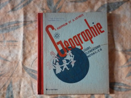 Géographie CM Kaeppelin Leykritz 1958  (X) - Livres, BD, Revues