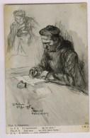 Fuselier Marin écrivant Une Lettre: On Les Aura (Fouqueray 25.02.1915) - Patriotiques