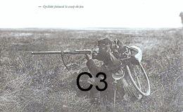 RETIRAGE DE PHOTO GUERRE 1914 1918 (WW1)APRES RESTAURATION SUR PAPIER GLACE ,retirage De Plaque Stereoscopique - 1914-18