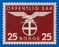 1943 NORWAY OFFICIAL SUN CROSS STAMP FACIT TJ 61 U.M. / N.S.C. - Dienstmarken